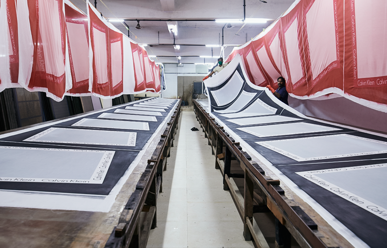 The Printing Unit at Linen manufacturer in India