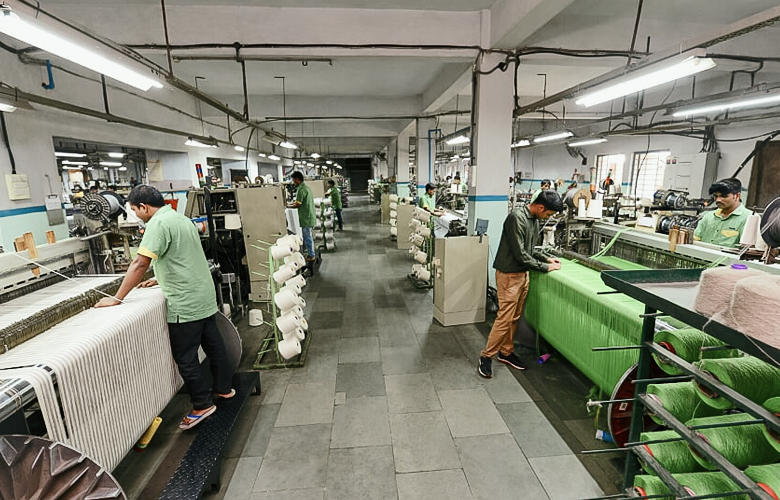 Dobby Loom shed at our linen manufacturer in India